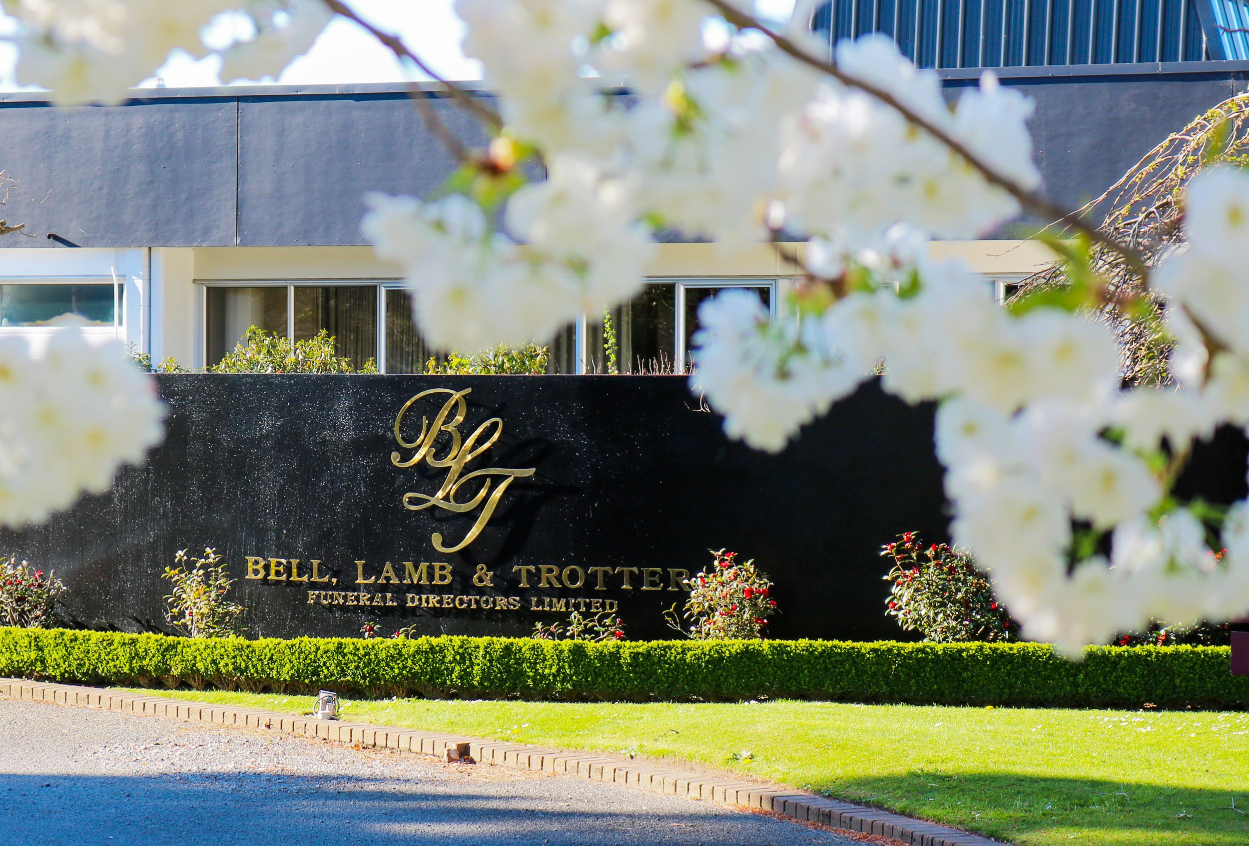 Funeral Directors | Bell, Lamb & Trotter Front Entrance
